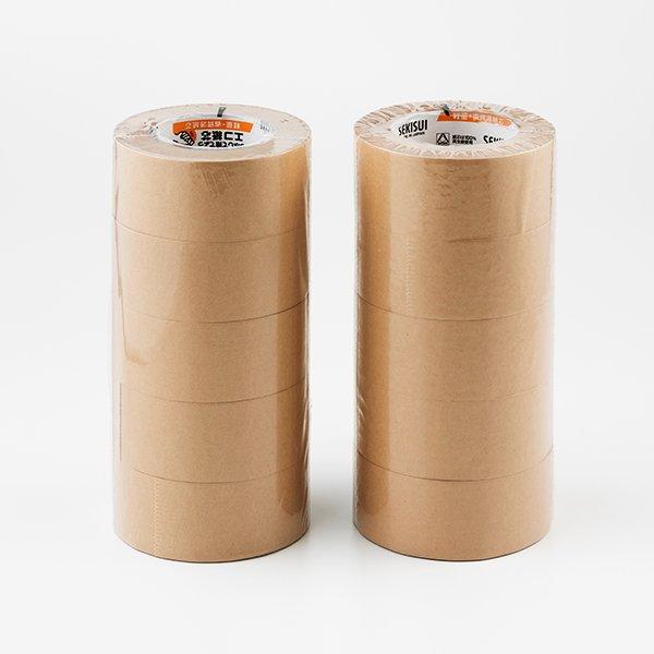 画像1: クラフトテープ 茶 50巾×50m 1箱(5巻入) 1ケース(50巻入) (1)